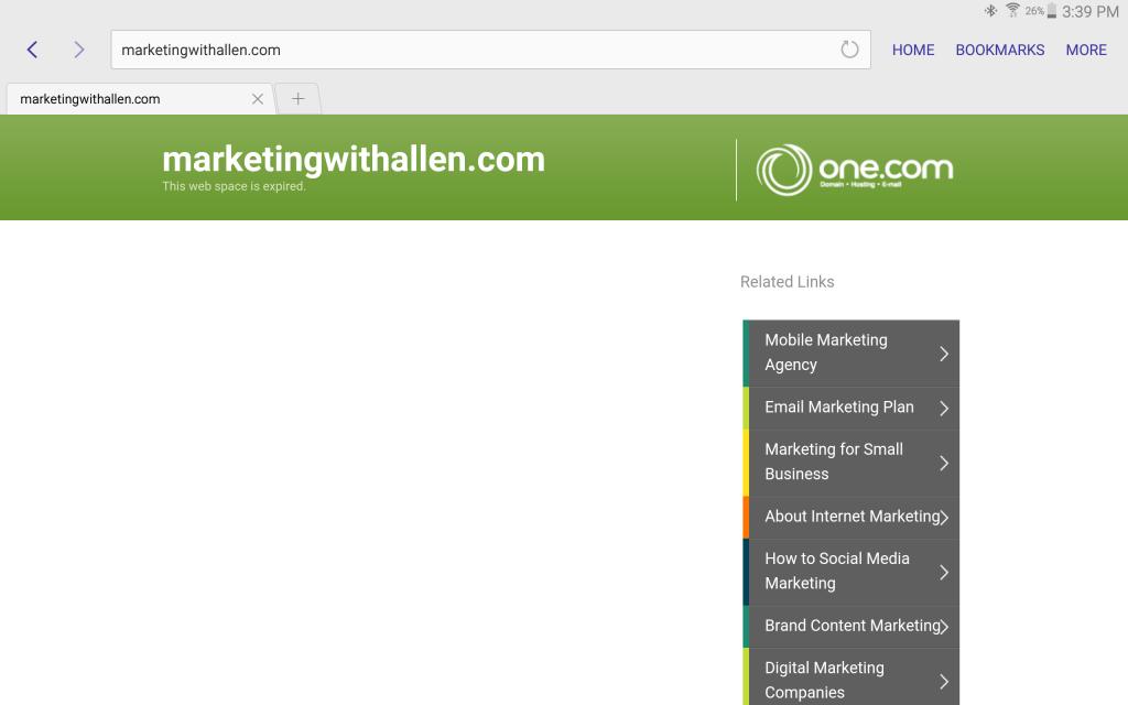 Screenshot - marketingwithallen.com: