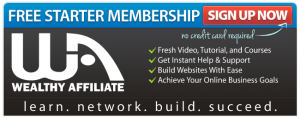 Wealthy Affiliate - 'Free Starter Membership' Ad Banner