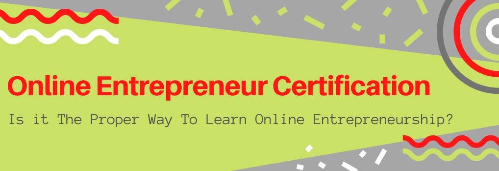 Online Entrepreneur Certification - Hero