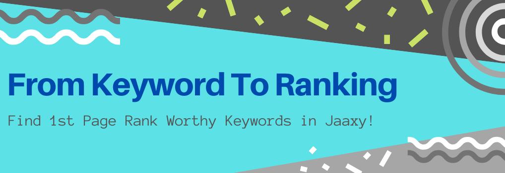 From Keyword To Ranking - Hero