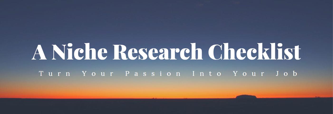 A Niche Research Checklist - Hero