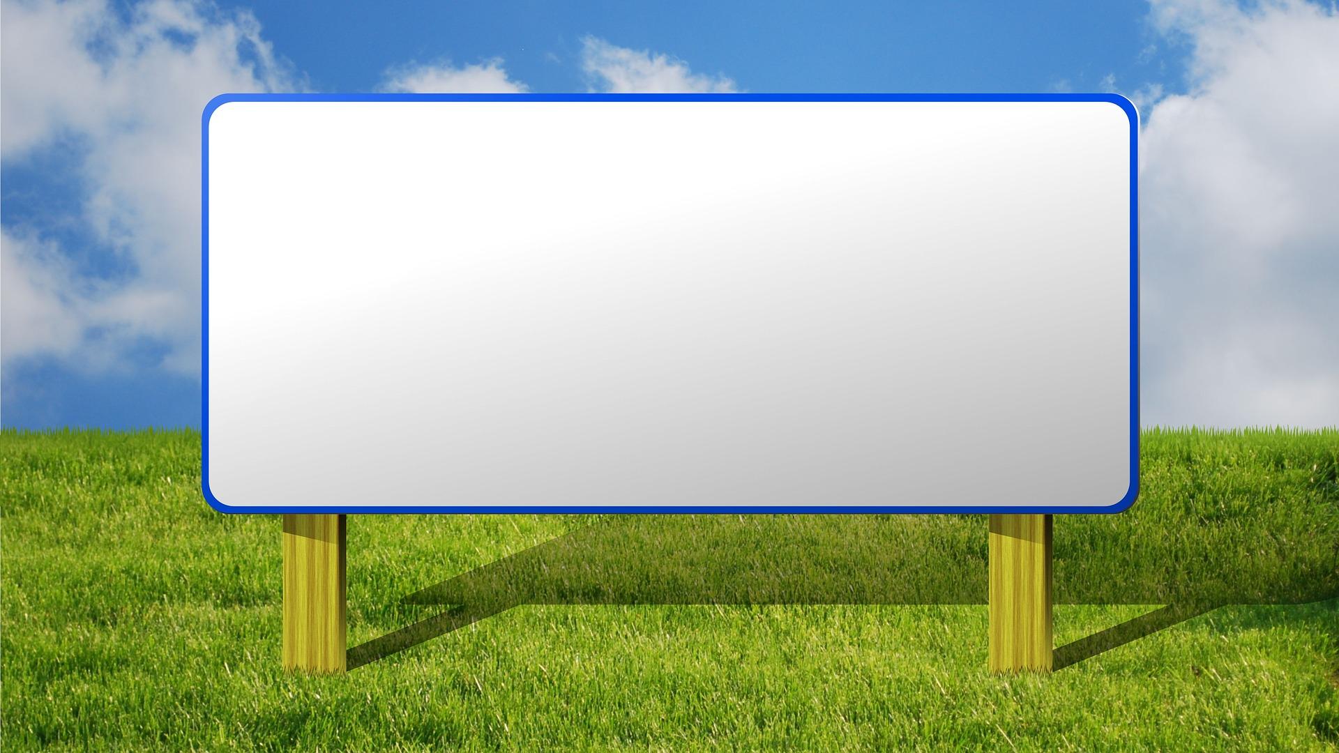 A blank billboard image: