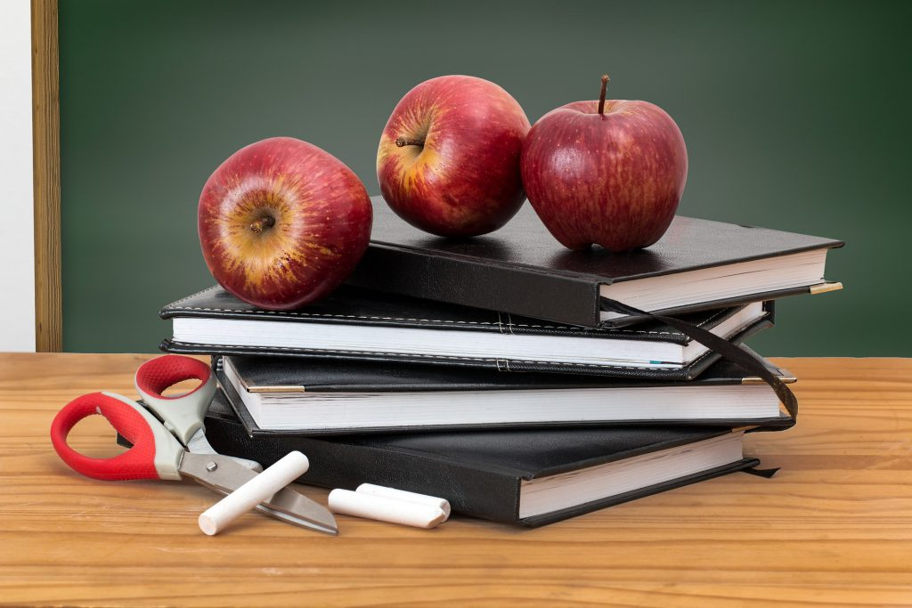 'apples and books' image:
