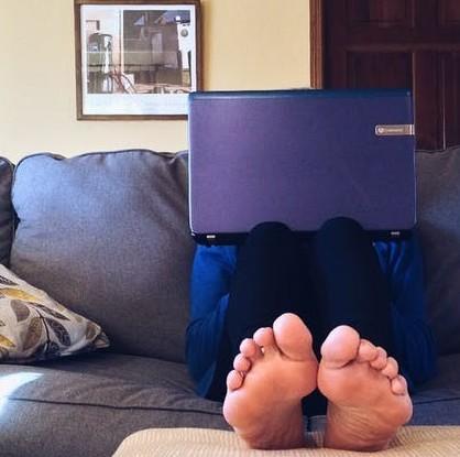 Secret Shopper Review - behind the laptop