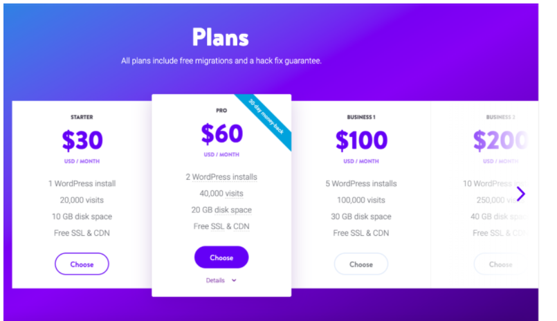 Kinsta Review - Kinsta Plans