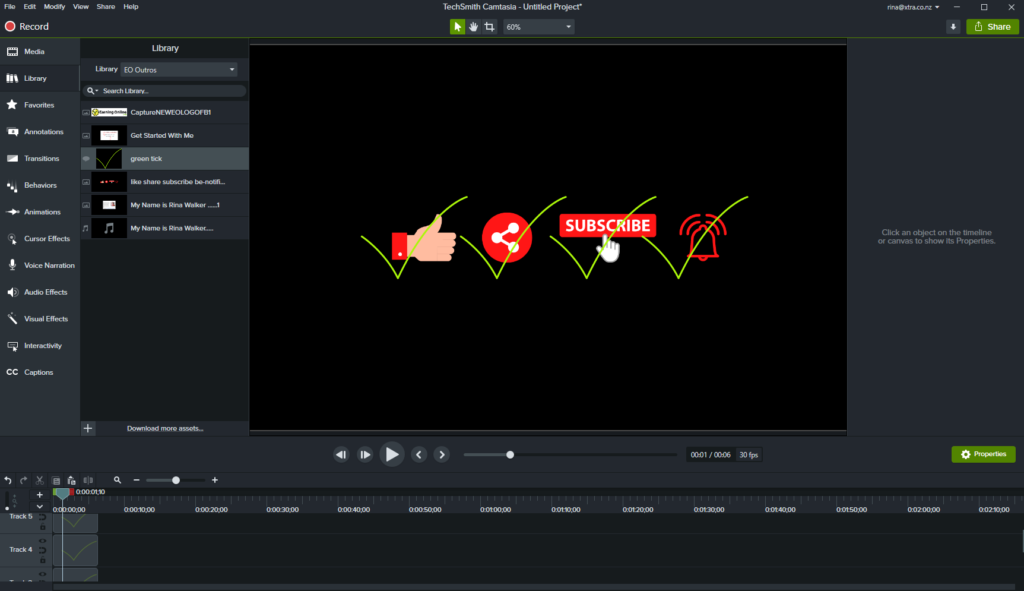 Camtasia Review - Like, Share, Subscribe, Notification