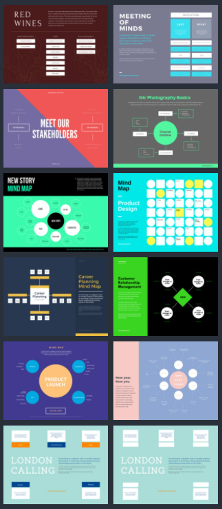 7 Best Social Media Templates in Canva - Mind Map templates