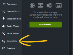 How to Navigate Camtasia - Interactivity
