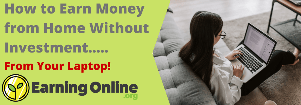 How to Earn Money from Home Without Investment - hero